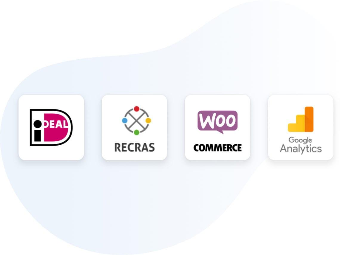 logo ideal, recras, woo commerce, google analytics, wordpress brothers